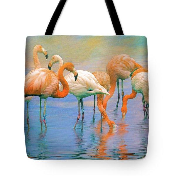 American Flamingos Tote Bag