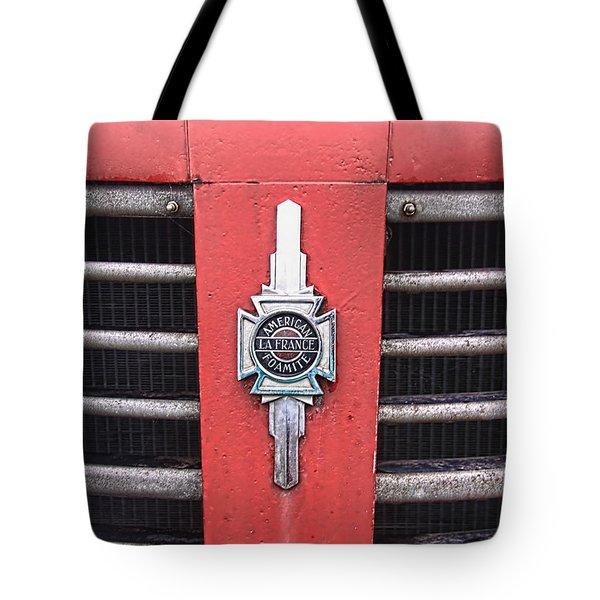American Foamite Firetruck Emblem Tote Bag