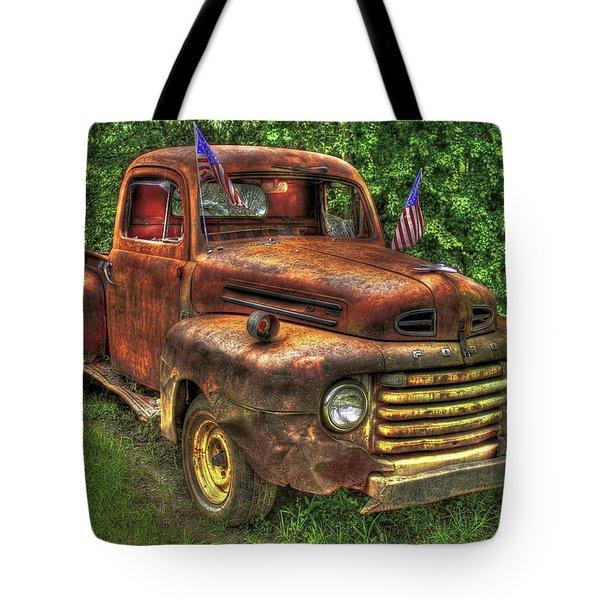 American Ford 1950 F-1 Ford Pickup Truck Art Tote Bag