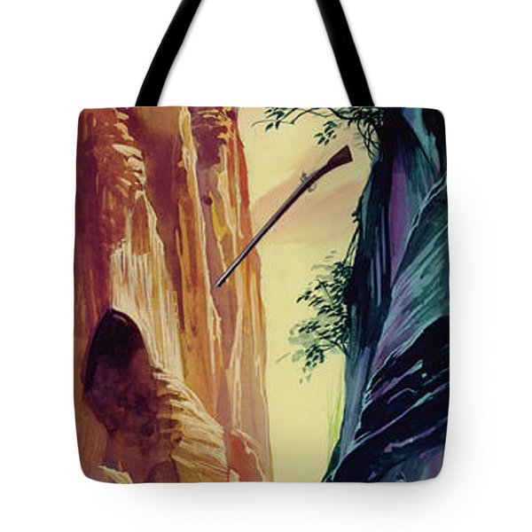 American Frontiersman Being Chased  Tote Bag
