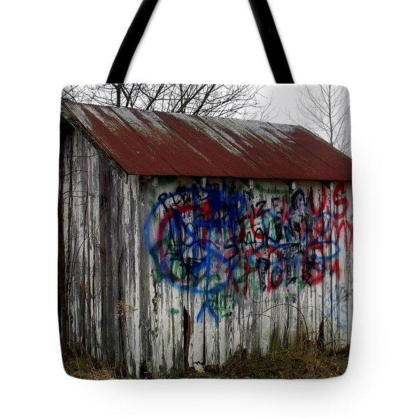 American Graffiti 4   Zig Zag Man Tote Bag by Ed Smith