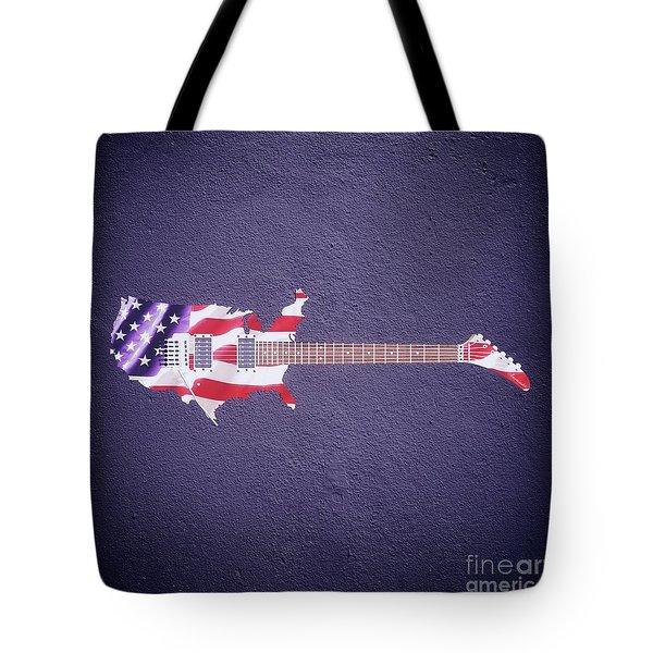 American Guitar By Sarah Kirk Tote Bag