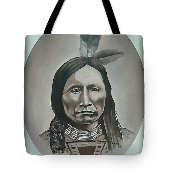 Tote Bag featuring the painting American Horse by Michael  TMAD Finney