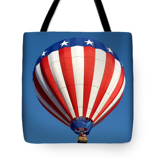 American Hot Air Balloon Tote Bag by Nicolas Raymond