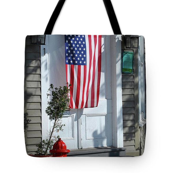 Tote Bag featuring the photograph American Hydrant by Jost Houk