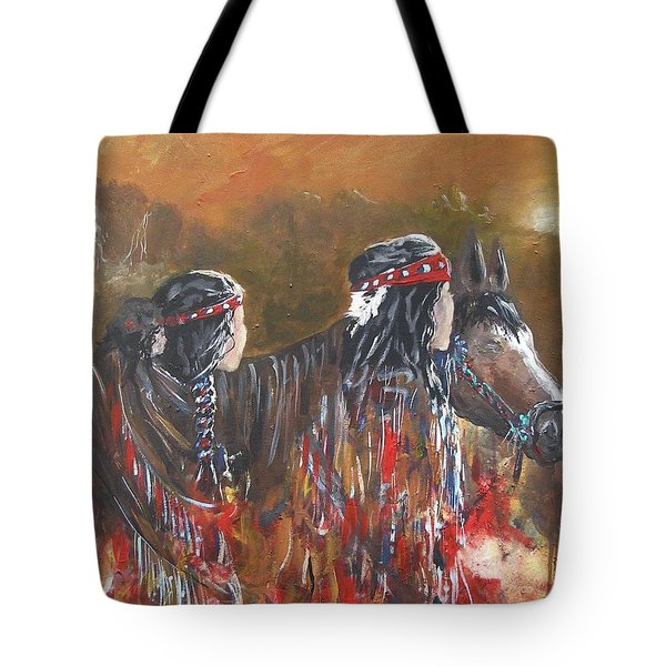 American Indians Family Tote Bag