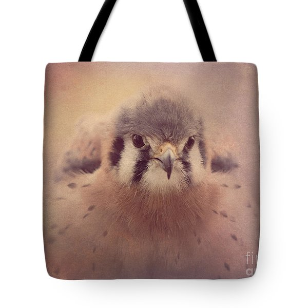 Tote Bag featuring the photograph American Kestrel 2 by Chris Scroggins