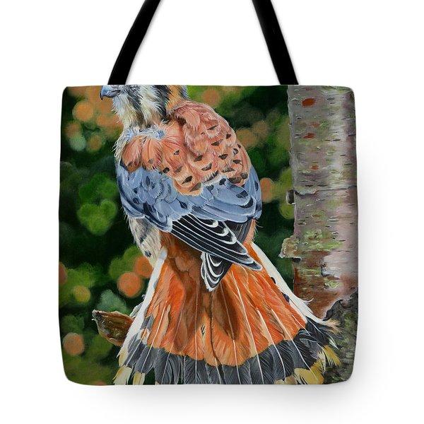 American Kestrel In My Garden Tote Bag