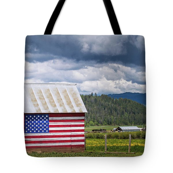 Tote Bag featuring the photograph American Landscape by Wesley Aston