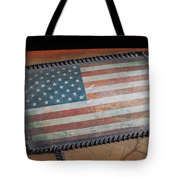Tote Bag featuring the photograph American Leather by Christopher McKenzie