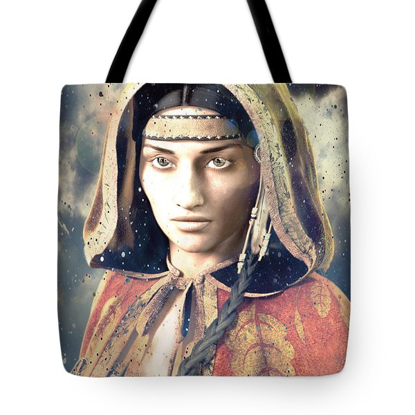 Tote Bag featuring the painting American Light Saint Kateri Tekakwitha by Suzanne Silvir