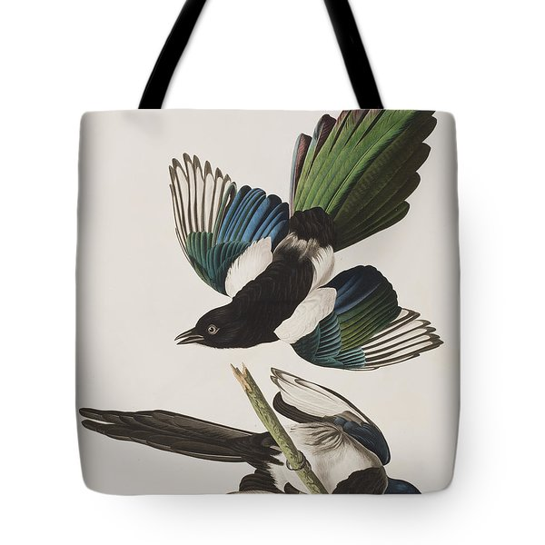 American Magpie Tote Bag by John James Audubon
