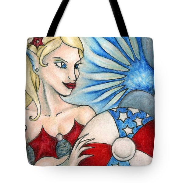 American Mermaid Tote Bag