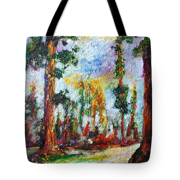 American National Parks Redwood Trees Tote Bag