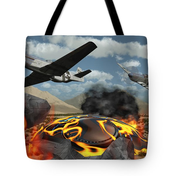 American P-51 Mustang Fighter Planes Tote Bag by Mark Stevenson