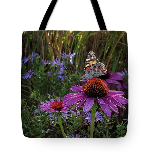 American Painted Lady On Cone Flower Tote Bag
