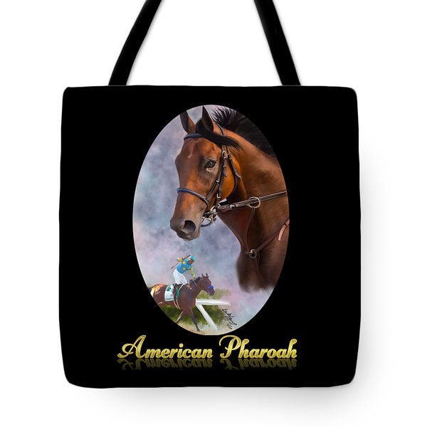American Pharoah Framed Tote Bag