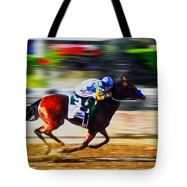 American Pharoah Tote Bag by Rick Mosher