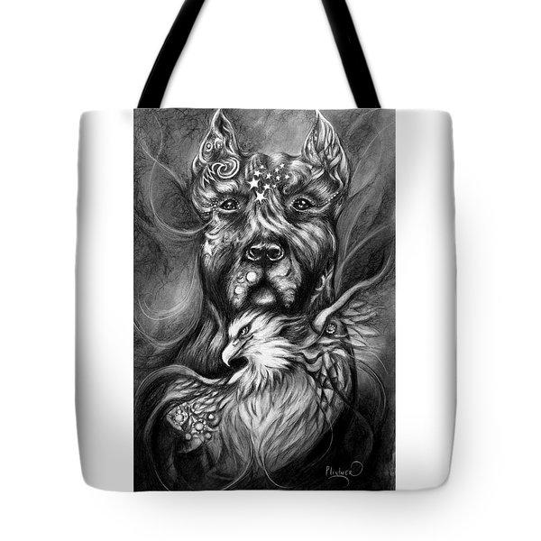 American Pitbull Tote Bag by Patricia Lintner