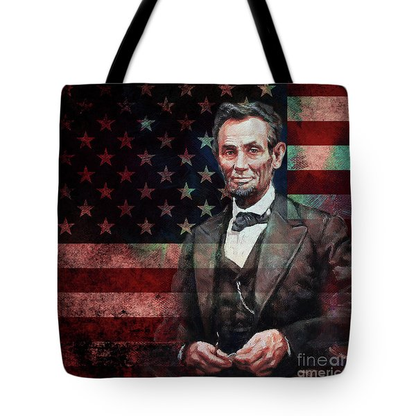 American President Abraham Lincoln 01 Tote Bag by Gull G