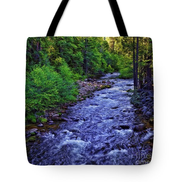 American River-2 Tote Bag