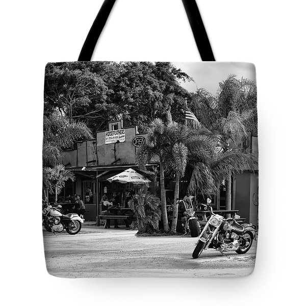 Tote Bag featuring the photograph American Roadhouse Bw by Laura Fasulo