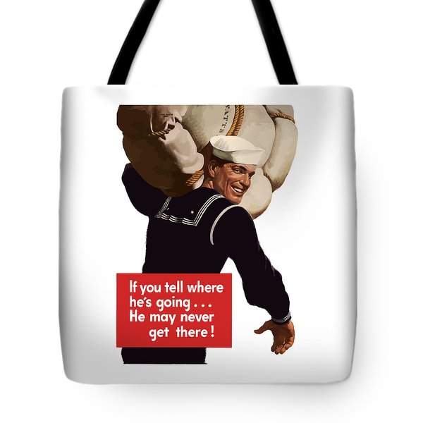 American Sailor -- Ww2 Propaganda Tote Bag