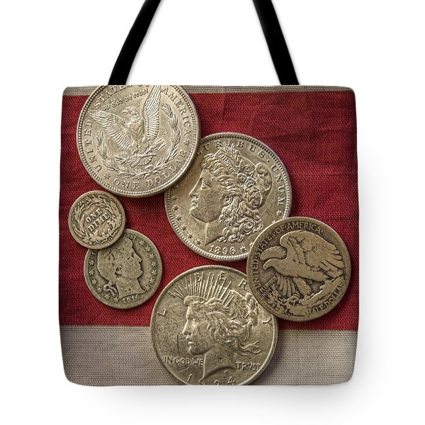 American Silver Coins Tote Bag by Randy Steele