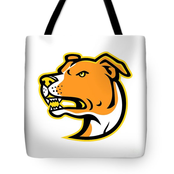 American Staffordshire Terrier Head Mascot Tote Bag