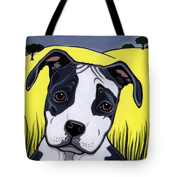 American Staffy Tote Bag by Leanne Wilkes