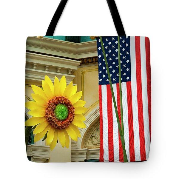 American Sunflower Tote Bag by Rae Tucker