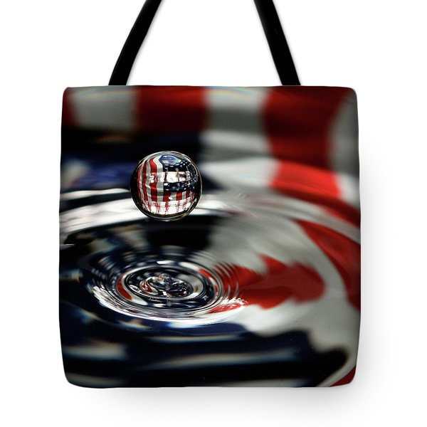 American Water Drop Tote Bag