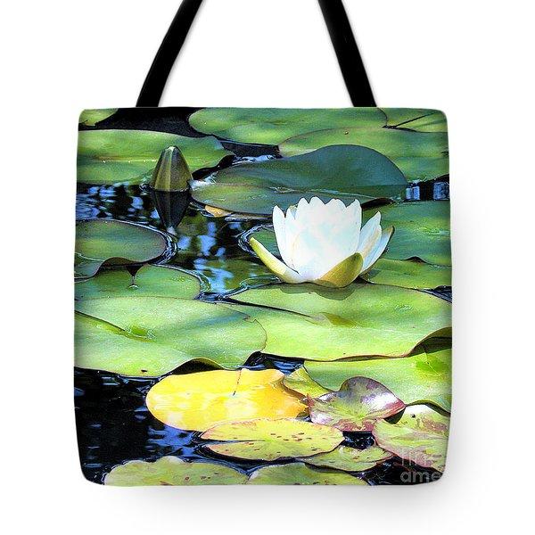 American Water Lilies Four Tote Bag by J Jaiam