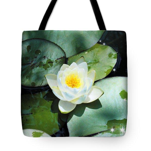 American Water Lilies Tote Bag by J Jaiam