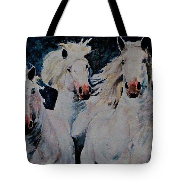 American White Tote Bag
