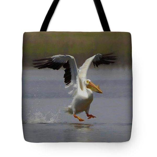 American White Pelican Da 3 Tote Bag by Ernie Echols