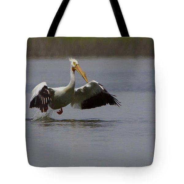 American White Pelican Da Tote Bag by Ernie Echols