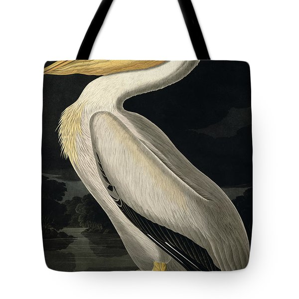 American White Pelican Tote Bag by John James Audubon