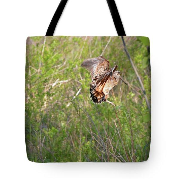 American Woodcock Behavior Tote Bag