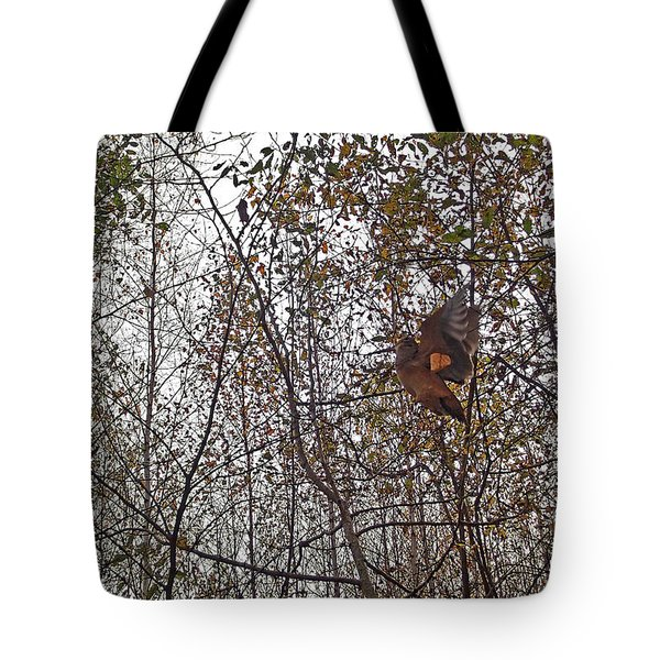 American Woodcock In October Foliage Tote Bag
