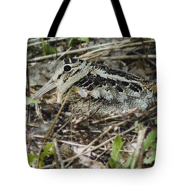American Woodcock Nesting Tote Bag