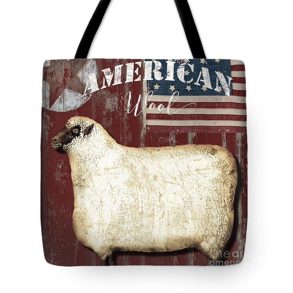 American Wool Tote Bag by Mindy Sommers