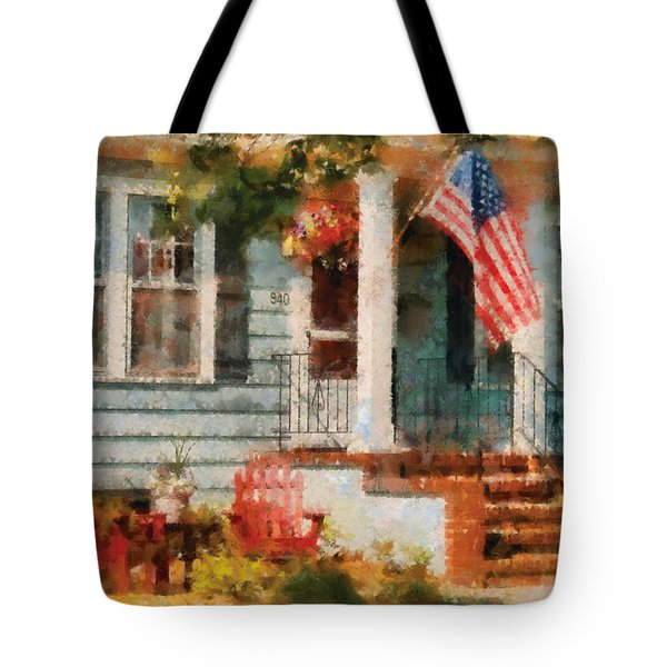 Americana - America The Beautiful Tote Bag by Mike Savad