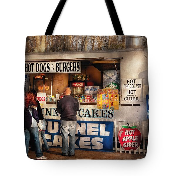 Americana - Food - Hot Dogs And Funnel Cakes Tote Bag by Mike Savad