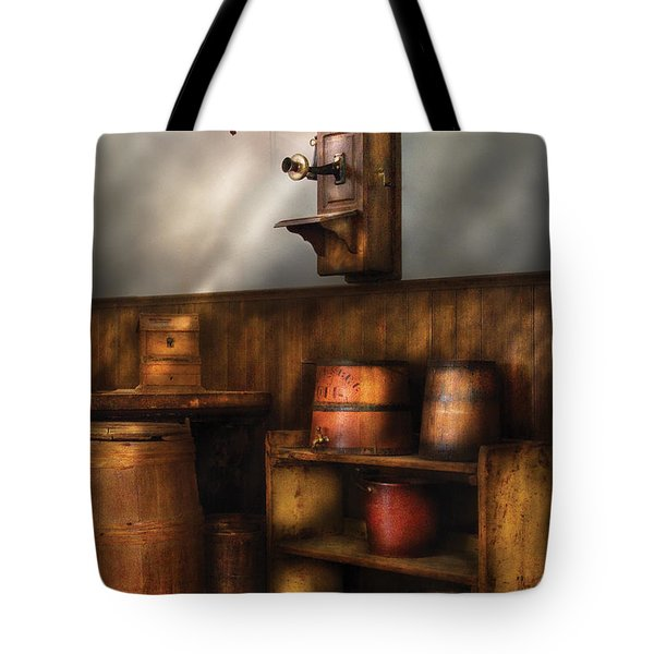 Americana -  In The Corner Of The General Store  Tote Bag by Mike Savad