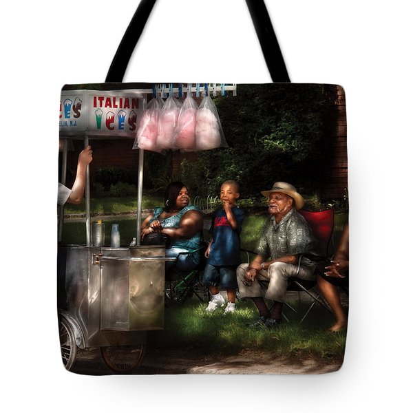 Americana - People - Buying Treats Tote Bag by Mike Savad