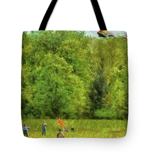 Americana - People - Let's Go Fly A Kite Tote Bag
