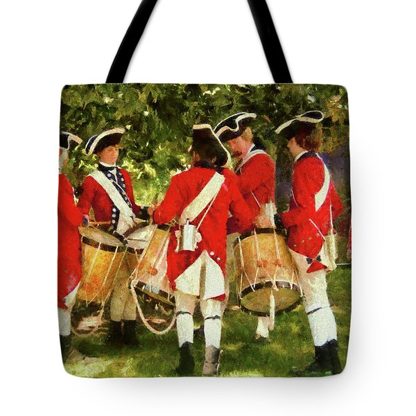 Americana - People - Preparing For Battle Tote Bag by Mike Savad