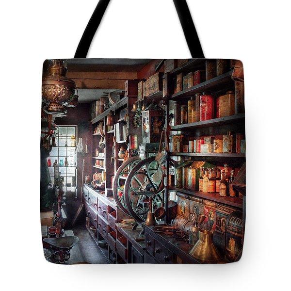 Americana - Store - Corner Grocer  Tote Bag by Mike Savad