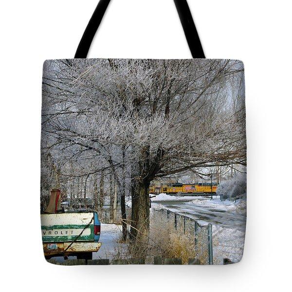 Americana And Hoarfrost Tote Bag